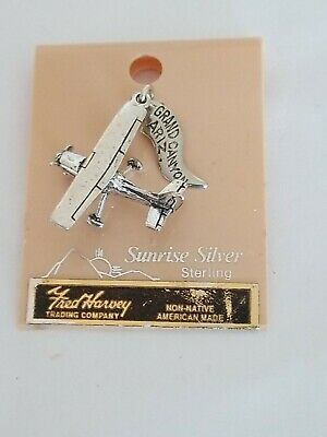 Fred Harvey Trading Co Charm Tourist Jewelry Grand Canyon AZ Sterling Silver NOS