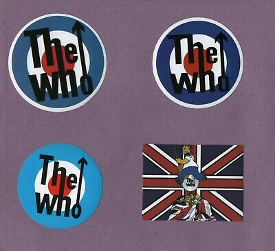 The WHO Stickers Buy 1 get 1 FREE Music Classic Guitar Rock Daltrey Townshend