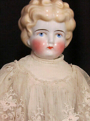 """Unusual Large 18"""" Blonde China Doll 10 """" Head Antique Clothes & Undies!"""