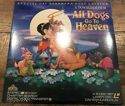 All Dogs Go To Heaven widescreen laserdisc CAV sealed Don Bluth