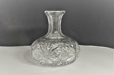Vintage BIRKS CRYSTAL GLASS CUT OPEN CARAFE / DECANTER American Brilliant Period