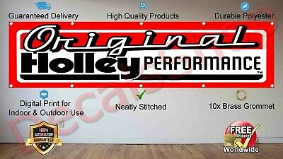 Holley Equipped Flag Banner 3x5 ft American Auto Parts Car Wall Garage