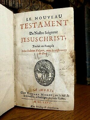 1667 NEW TESTAMENT of Our Lord Jesus Christ