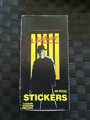 1984 A Nightmare on Elm Street Trading Stickers x 1 box 48 Packets