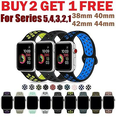 Silicone Sport Replacement Band 38mm 42mm For Nike+ Apple Watch Series 4 3 2 1