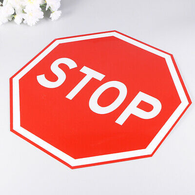 1pc Stop Sign Safety Traffic Street Sign Warning Alert Attention Metal Road Sign