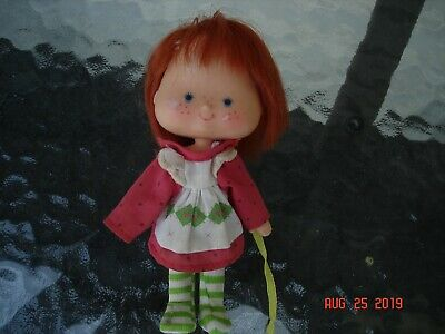 vintage rare strawberry shortcake doll collectable red hair striped stockings