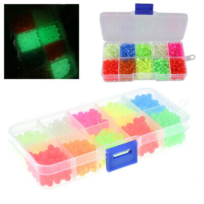1000x/ Box Colorful Luminous Fishing Beads Rig Lures Floating Glow In The Dark