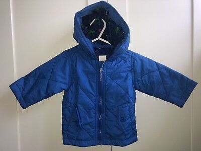 Baby Boys Blue Zoo Jacket with hood Age 0-3 Months