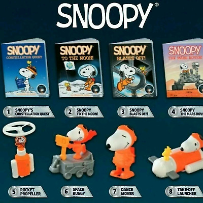 McDonalds 2019 Peanuts Snoopy Nasa Happy Meal Toy -Brand New in Sealed Package