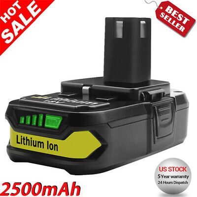 For Ryobi P102 18V 2.5Ah Battery P108 P107 P190 Lithium-ion ONE+ Plus P103 P104