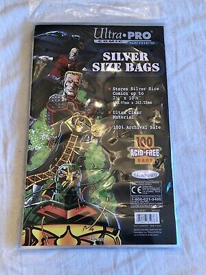 Ultra Pro Comic Series Silver Size Bags 100 Comic Book Sleeves