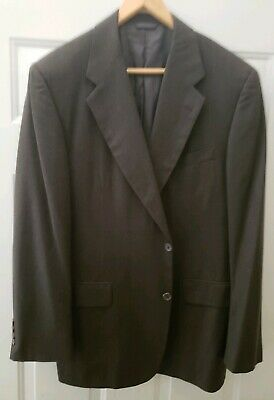 Brooks Brothers Suit Sport Coat Mens 42 R Wool Charcoal 2 Button Jacket
