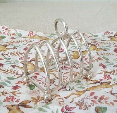 *Used* Lovely Decorative Silver-Style Toast Rack 'Nickel Plated' Home Decor Etc