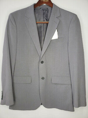 Nautica Men's Two Button Solid Jacket Gray 38R # 17