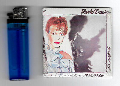 """DAVID BOWIE """" SCARY MONSTERS """" CHUPOPS BUBBLE GUM CHEWING GUM - cm. 7,5 x 7,5"""