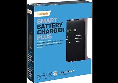 Halfords Car Battery Smart Charger Plus For 12V Vehicles Up To 3 L Start Stop