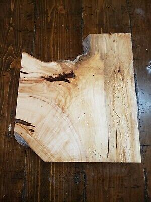 """Maple (Crotchy/Figure)Lumber 13""""x12""""x1 3/4"""" Carving Craft Art Knife Scales MCF91"""