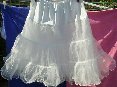 Petticoat Under Skirt Short Size S-M Ivory