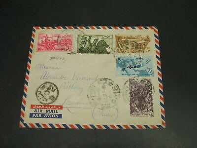 Egypt 1957 airmail cover to Switzerland *29972