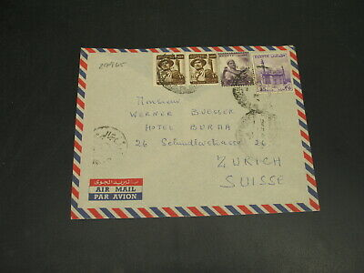 Egypt 1956 airmail cover to Switzerland -flap *29965