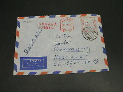Egypt 1956 meter airmail cover to germany *29982