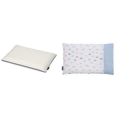 Clevamama Clevafoam Pram Pillow + Pillowcase Blue