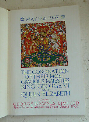 Vintage Book 1937 Coronation King George VI Queen Elizabeth Colour Illustrated
