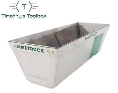 """USG Sheetrock Tools Matrix Stainless Steel 10"""" Mud Pan with Reinforced Band"""