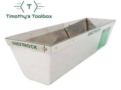 """USG Sheetrock Tools Matrix Stainless Steel 12"""" Mud Pan with Reinforced Band"""