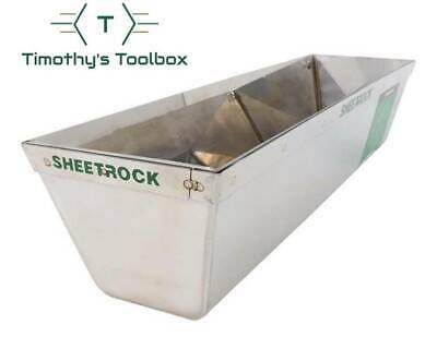 "USG Sheetrock Tools Matrix Stainless Steel 14"" Mud Pan with Reinforced Band"