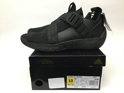 New Adidas Harden LS 2 Buckle Basketball Shoes Mens Size 10 Triple Black F33831