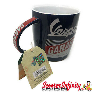 Mug Cup Drinks Vespa Garage (blue/white/red)