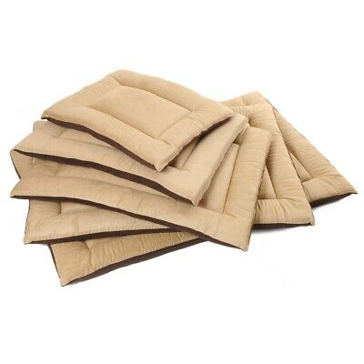 Dog Bed Mattress Cushion tan faux suede and brown fleece