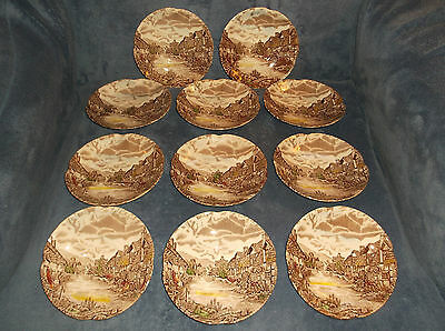 """Johnson Brothers Olde English Countryside 5 1/2"""" Saucers - Lot Of 11 - England"""