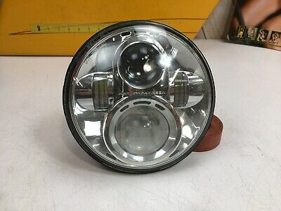 "Harley Davidson Daymaker 7"" Chrome LED Headlight Softail, Touring"