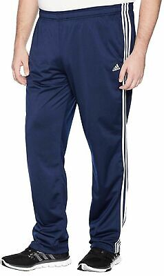 NWT ADIDAS Men`s Navy Blue/ White 3 Stripe Tricot Athletic Pants Sz.XL $35