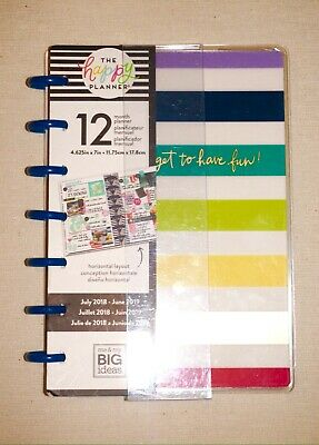 """New Create 365 Mambi The Happy Planner Mini 12 Month """"Don't Forget To Have Fun"""""""