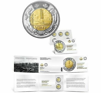 2017 Canada Toonie $2 Coin 5 Pack The Battle of Vimy Ridge 100th Anniversary