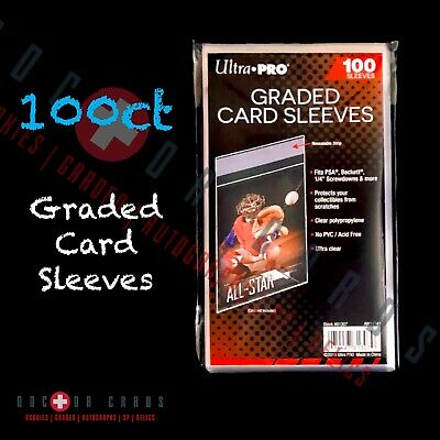 Ultra Pro Graded Card Sleeves 100pcs like Team Bags Resealable FREE SHIPPING