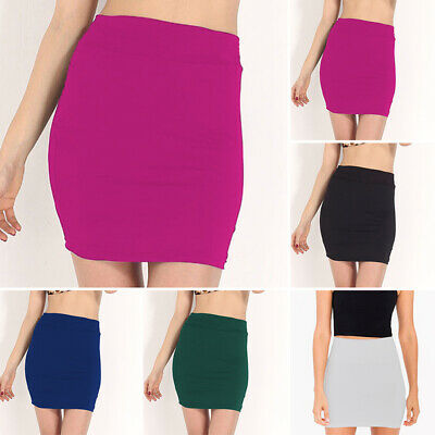 Henwerd Womens Fashion Solid Bandage Pu Leather Short Skirt High Waist Lace-Up A Line Casual Party Mini Skirt