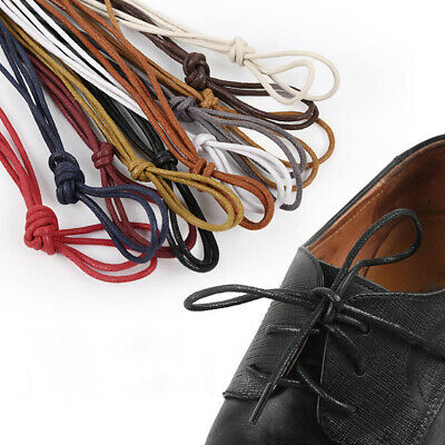 Round Waxed Dress Shoelaces Leather Shoes Strings Boot Shoe Laces Cord Useful