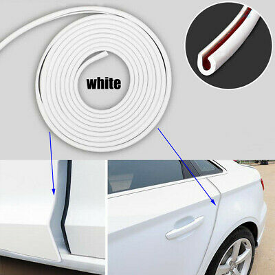 Rubber White Car Door Invisible Edge Crash Bar Protection Pads Anti-Rub Strips
