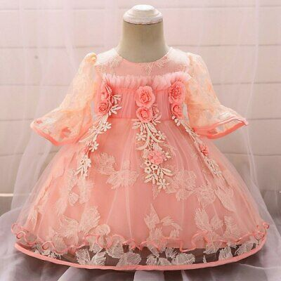 Baby Girl Toddler Infant Party Birthday Wedding Dress Princess Dresses Clothes P