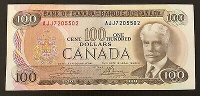 1975 - Canadian One Hundred Dollar Banknote, 100$ - Bank Of Canada