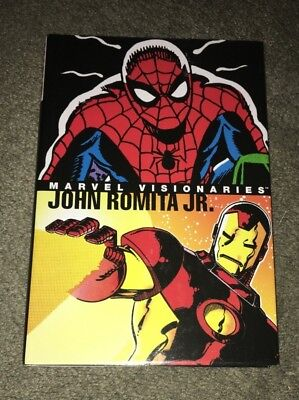 Marvel Visionaries John Romita Jr Rare-Hc-Graphic Novel Spider-Man Hulk Punisher