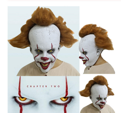Stephen King's It: Chapter Two 2 Pennywise Clown Cosplay Joker Mask Halloween UK