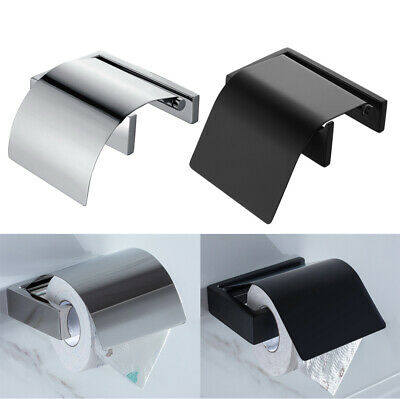 HOMELODY Bathroom 304 Stainless Steel Toilet Paper Roll Holder Shelf with Cover
