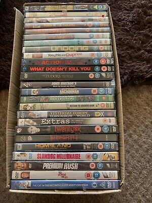 Job Lot Of 25 Brand New Sealed Top Titled Dvds Markets Car Boots Export Etc