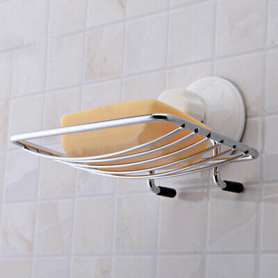 Home Strong Suction Bathroom Shower Accessory Soap Dish Holder Cup Tray US#New